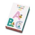 Juego de cartas Lemon Ribbon ABC. Un juego para aprender letras.