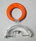 Pantalla oral perla (pequeña - aro naranja)