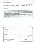 Paquete de 25 Hojas de Lectura de INVE M, Inteligencia Verbal.