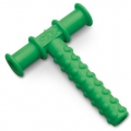 Mordedor oral Chewy Tube verde con texturas
