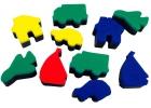 Esponjas de impresión de vehículos de transporte (10 unidades)
