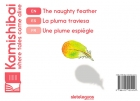 La pluma traviesa. The naughty feather. Une plume espiègle (español-inglés-francés) para Kamishibai A4