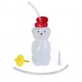 Botella de oso con pajita flexible, válvula y boquilla