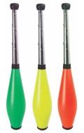 Mazas malabares buterfly colores. 3 unidades