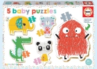 5 Baby Puzzles (Lemon Ribbon)