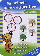 Mi primer juego educativo. Caja 50 tarjetas. La hora, calendario, estaciones del año.