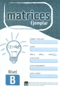 Ejemplar Nivel B (unidad) de MATRICES. Test de Inteligencia General