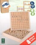 Formapalabras de madera de viaje