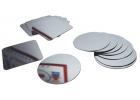 16 Espejos de plástico de círculos y cuadrados para manualidades y experimentos