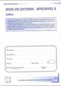 Paquete de 25 Hojas de Lectura de INVE S, Inteligencia Verbal.
