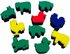 Esponjas de impresión de animales de la granja (10 unidades)