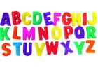 Letras magnéticas mayúsculas (308 piezas)