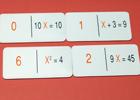 Dominó matematico algebra 1