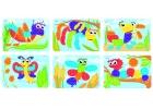 Láminas de modelos para mosaicos de pinchos de 10mm. Bichos