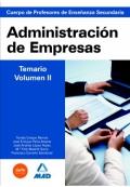 Administración de empresas. Temario volumen II. Profesores de enseñanza secundaria.