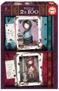 Dos puzles muñeca Gorjuss de 100 piezas. Caperucita Roja y Rapunzel