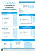 Paquete de 25 Cuadenillos de anotación y de análisis de TOMAL, Test de memoria y aprendizaje