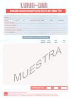 Paquete de 25 cuadernos de anotación de LURIA-DNA, Diagnóstico neuropsicológico de adultos
