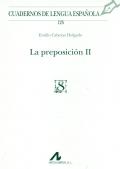 La preposición II.