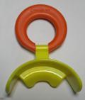Pantalla oral rígida para mandibula retruida (pequeña - aro naranja)