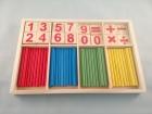 Material estilo Montessori: Contar, sumar y restar