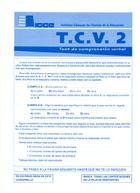 Cuadernillos del TCV 2 (paquete de 10)