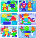 Láminas de modelos para mosaicos de pinchos de 15mm. Robots