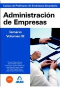 Administración de empresas. Volumen III. Profesores de enseñanza secundaria.