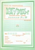 Paquete de 25 hojas de respuesta de IGF ( 3r, 4r, 5r y 6r ), Inteligencia General y Factorial Renovado.