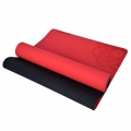 Esterilla de Yoga TPE. Bicolor. 6 mm. Antideslizante. Rojo
