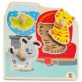 Puzzle de madera de animales domésticos (Hape)