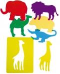 Plantillas translúcidas de animales del zoo