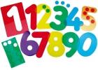 Plantillas de números translúcidas