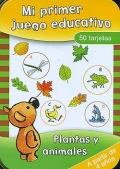 Mi primer juego educativo. Caja 50 tarjetas. Plantas y animales