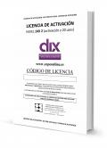 DIX 2. Licencia activación on line y 20 usos de corrección