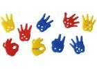 Bote de manos para contar y ensartar 72 piezas