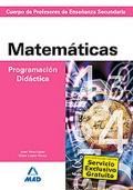 Matemáticas. Programación Didáctica. Cuerpo de Profesores de Enseñanza Secundaria.