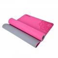 Esterilla de Yoga TPE. Bicolor. 6 mm. Antideslizante. Rosa