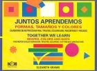 Juntos aprendemos formas, tamaños y colores. Cuaderno de motricidad fina. Trazos, coloreado, recortado y pegado.