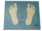 Juego de encaje para el conocimiento de los pies
