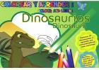 Colorear y aprender: dinosaurios. ( Español - Inglés )