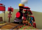 Mapi, la alegre locomotora de vapor. Cuento (español-catalán) para Kamishibai A4