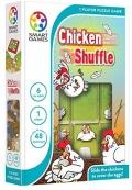 Chicken Shuffle. Desliza las gallinas para cubrir los huevos