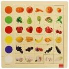 Puzzle asociación colores