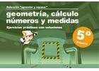 Colección aprender y repasar, Geometría, cálculo, números y medidas. Ejercicios prácticos con soluciones. 5º de Primaria.