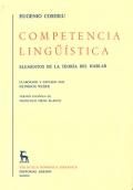 Competencia lingüística. Elementos de la teoría del hablar.