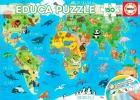 Mapamundi Animales Educa puzzle 150 piezas