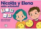 Nicolás y Elena están enfadados. Colección Pictogramas 25.