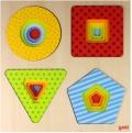 Puzzle de formas geométricas de 4 capas