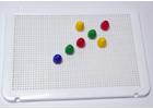 Placa blanca para pinchos / mosaicos ( 1 unidad )